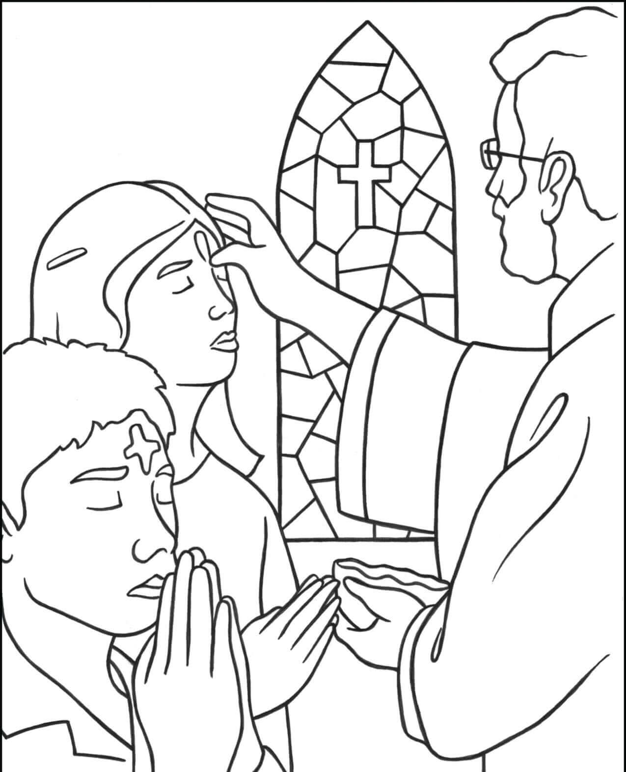 Lent Ash Wednesday Coloring Pages Free Printable