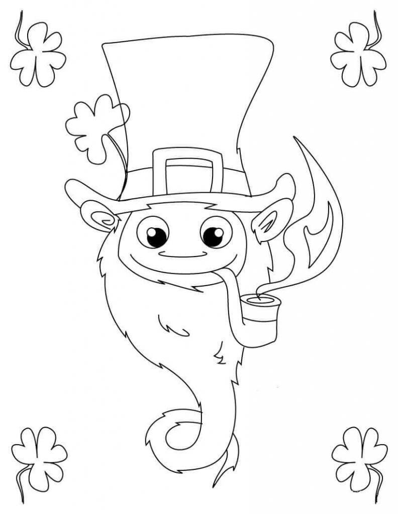 image relating to Leprechaun Cut Out Printable referred to as Leprechaun coloring internet pages slice out