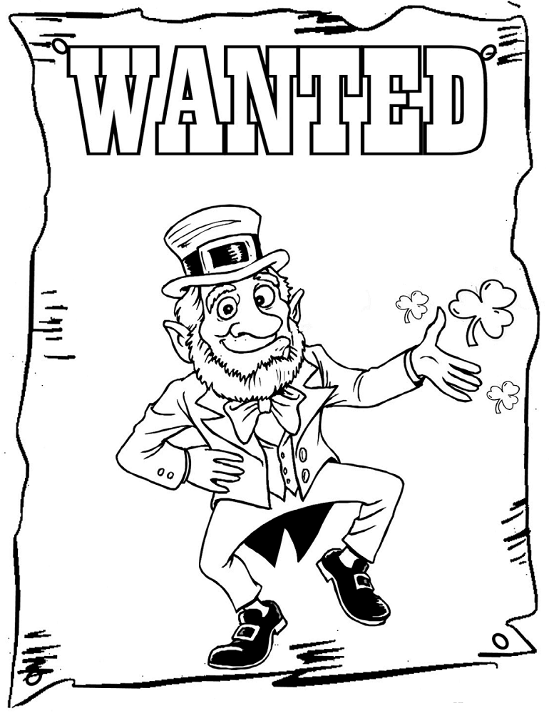 Leprechaun Coloring Pages Free