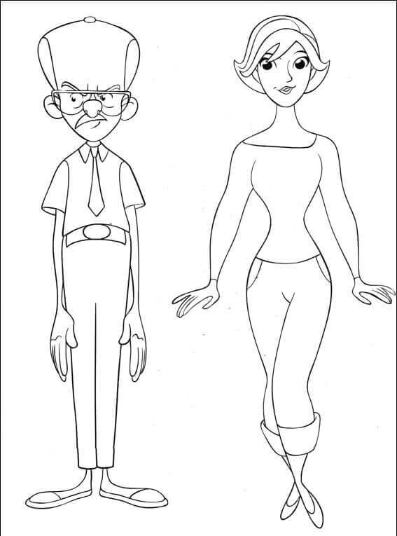 Maggie Dunlop from Curious George Coloring Page