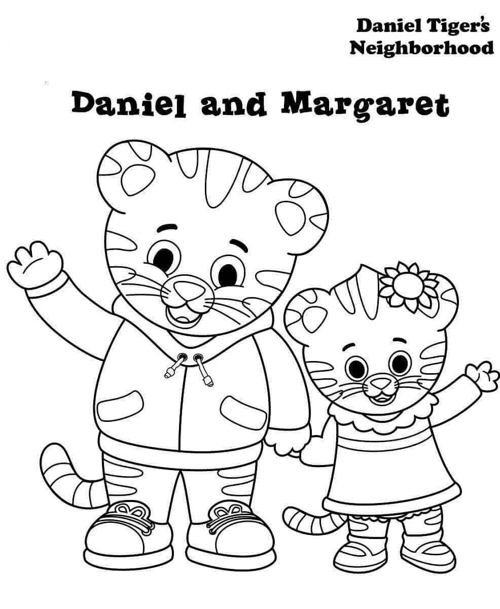 Margaret And Daniel Tiger Coloring Pages