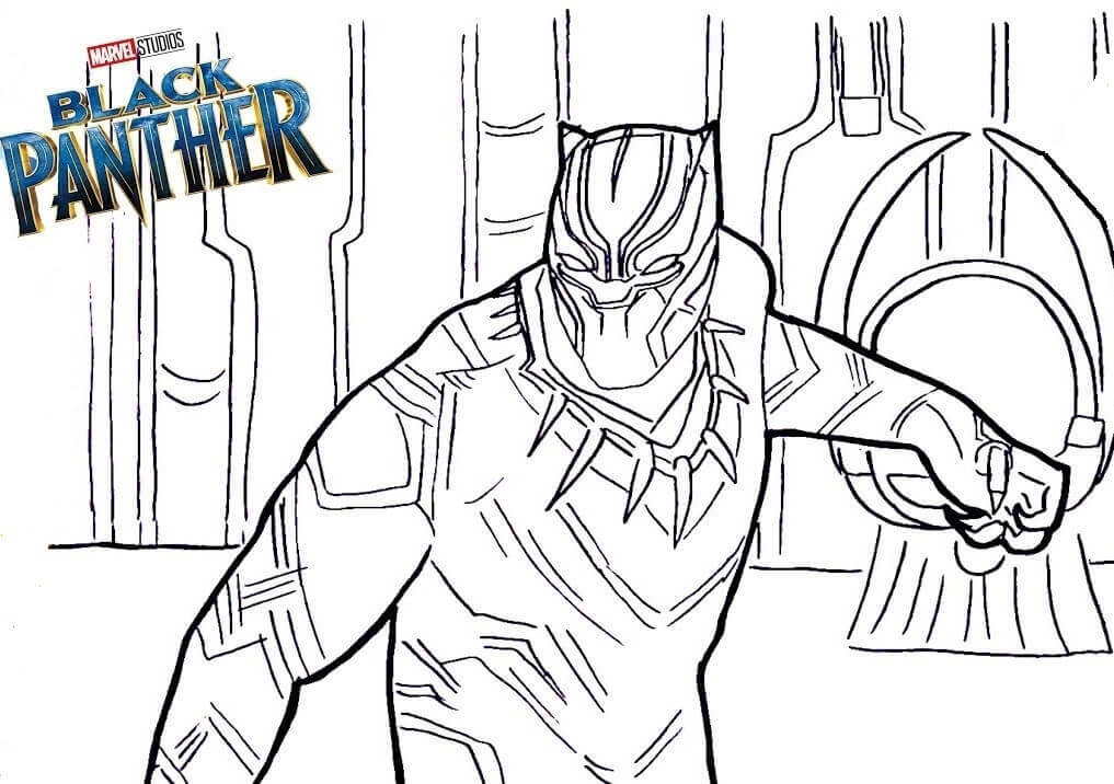 Black Panther Marvel Heroes Coloring Pages