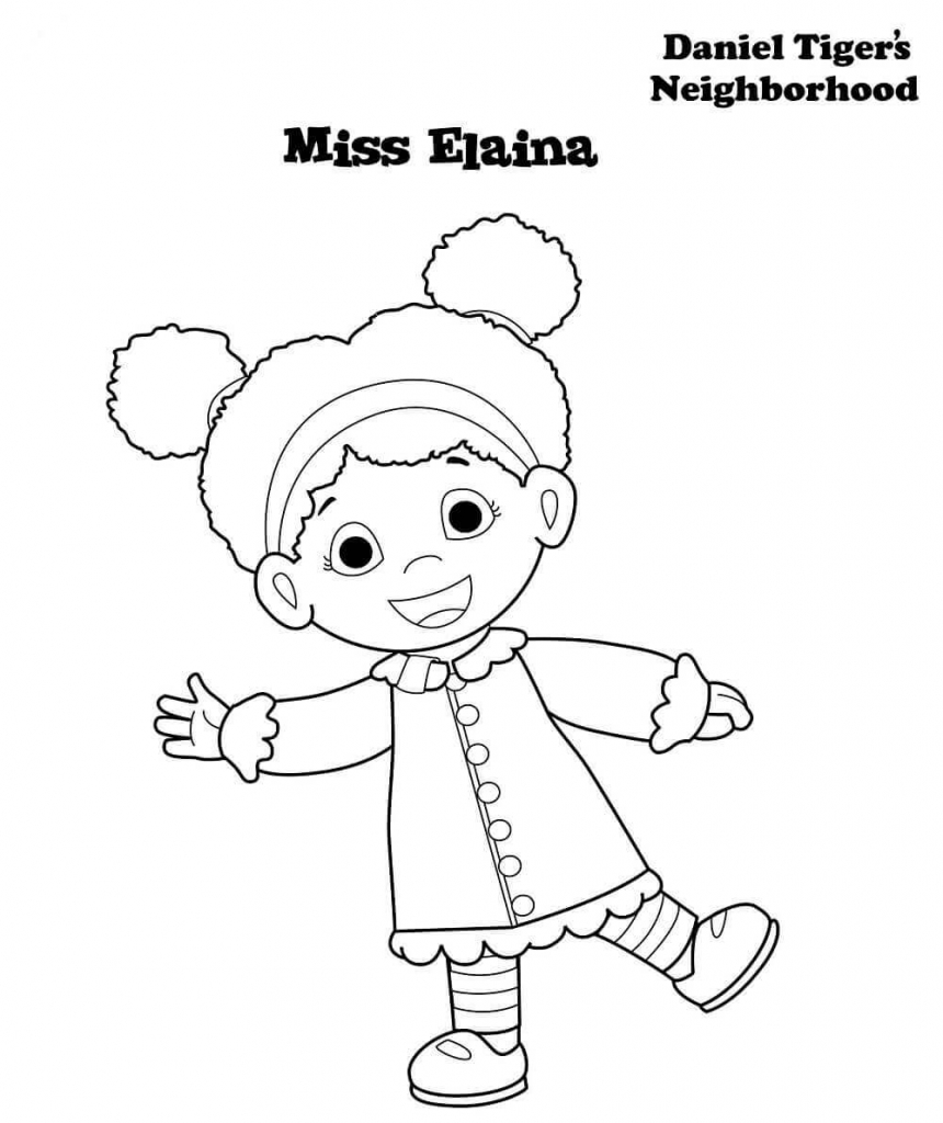 Miss Elaina From Daniel Tigers Neighborhood Coloring Pages