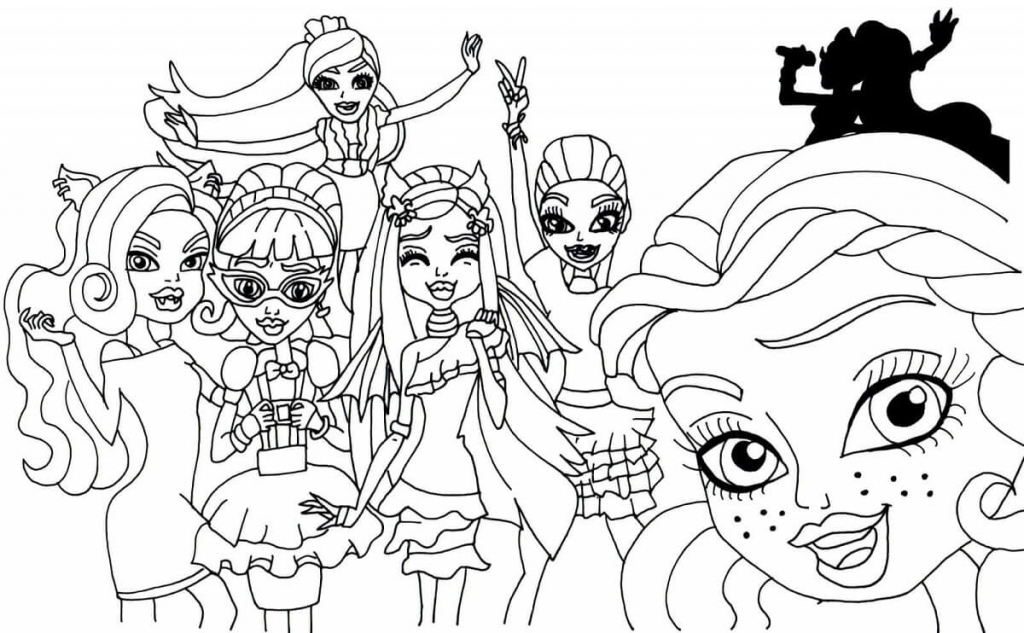 Monster High Coloring Pages Free Printable