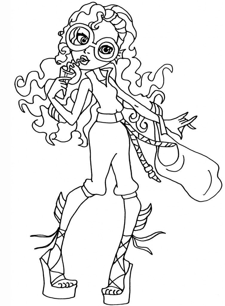 gill lagoona blue monster high coloring pages gill best