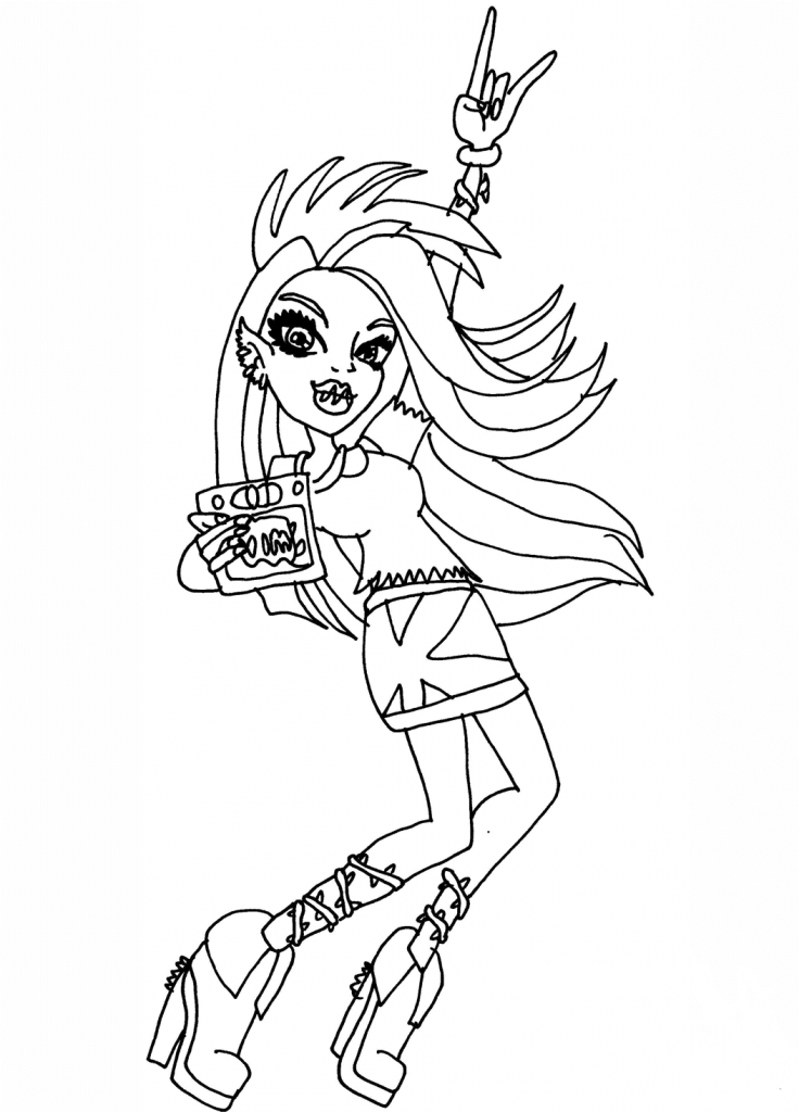 Monster High Coloring Pages Venus McFlytrap