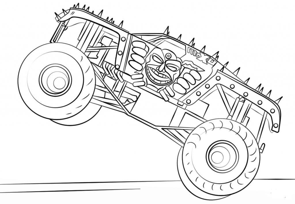 Monster Jam Coloring Sheets Max D Monster Truck