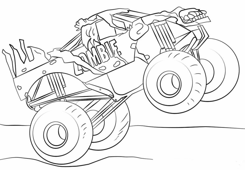 Monster Jam Coloring Zombie Monster Truck