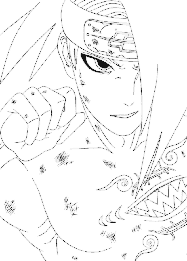 Naruto Coloring Pages Deidara