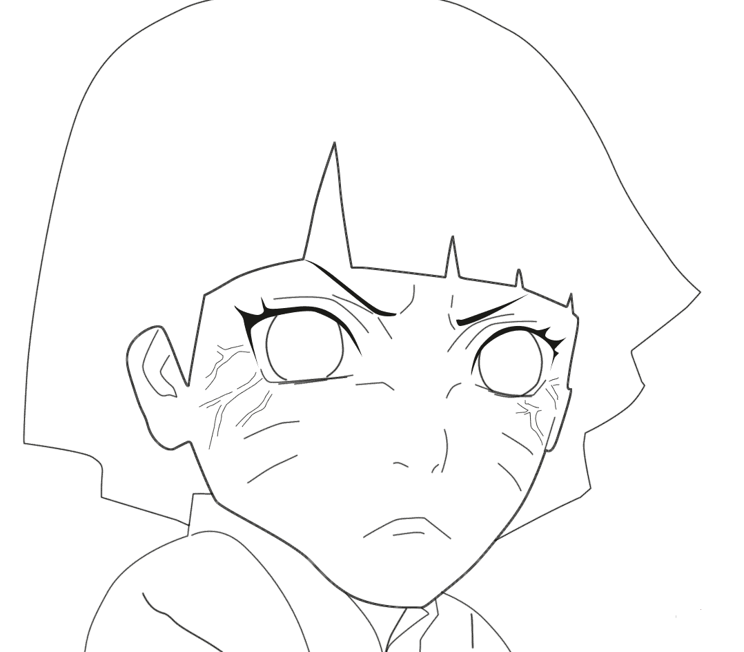 Naruto Coloring Pages Himawari Uzumaki Free Printable