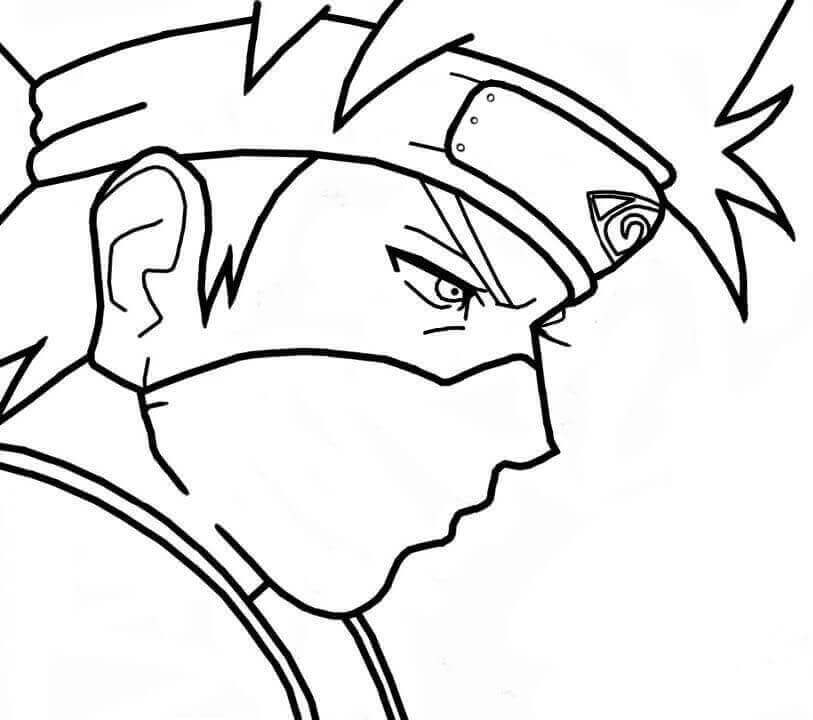 Naruto coloring pages kakashi hatake