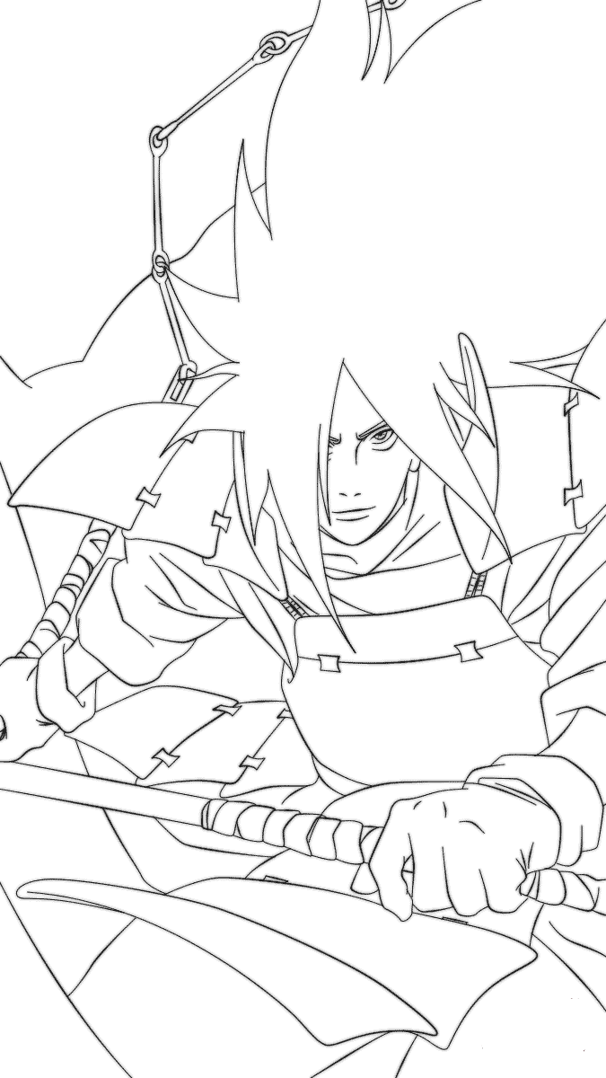 Naruto Coloring Pages Madara Uchiha