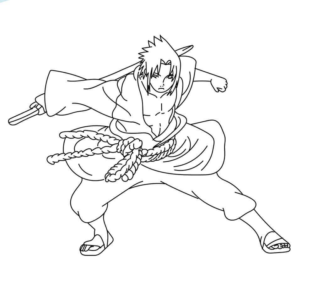Naruto Coloring Pages Naruto As Hokage