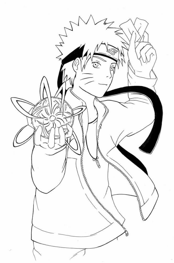 Naruto Coloring Pages Rasengan