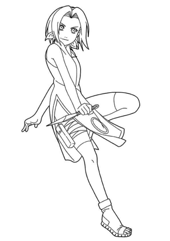 Naruto Coloring Pages Sakura Haruno