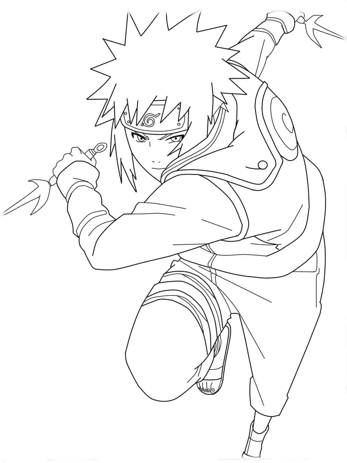 Naruto Printable Coloring Page