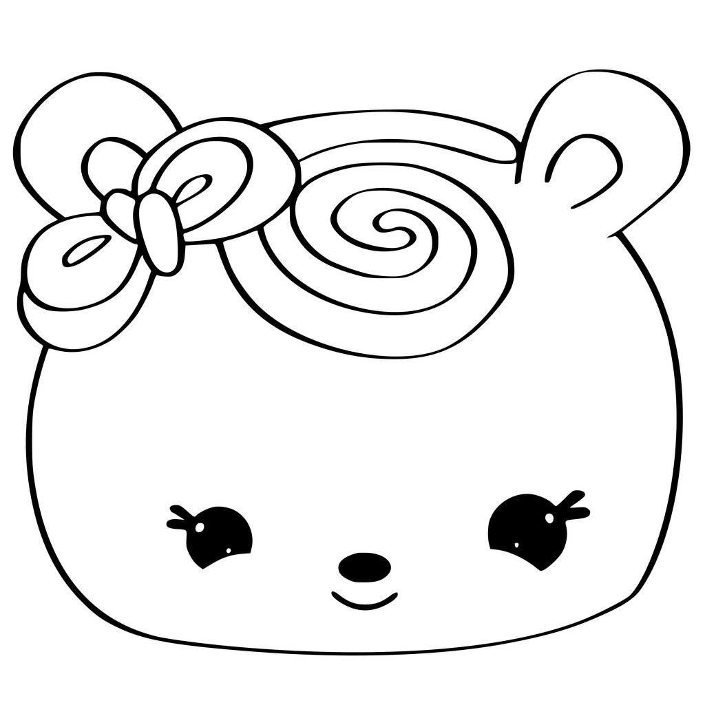 Num Coloring Pages Orange Swirl