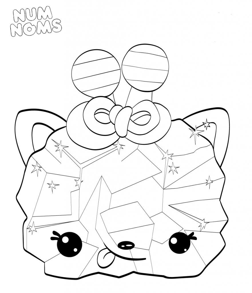 Num Noms Coloring Pages Crystal Wildberry Candy