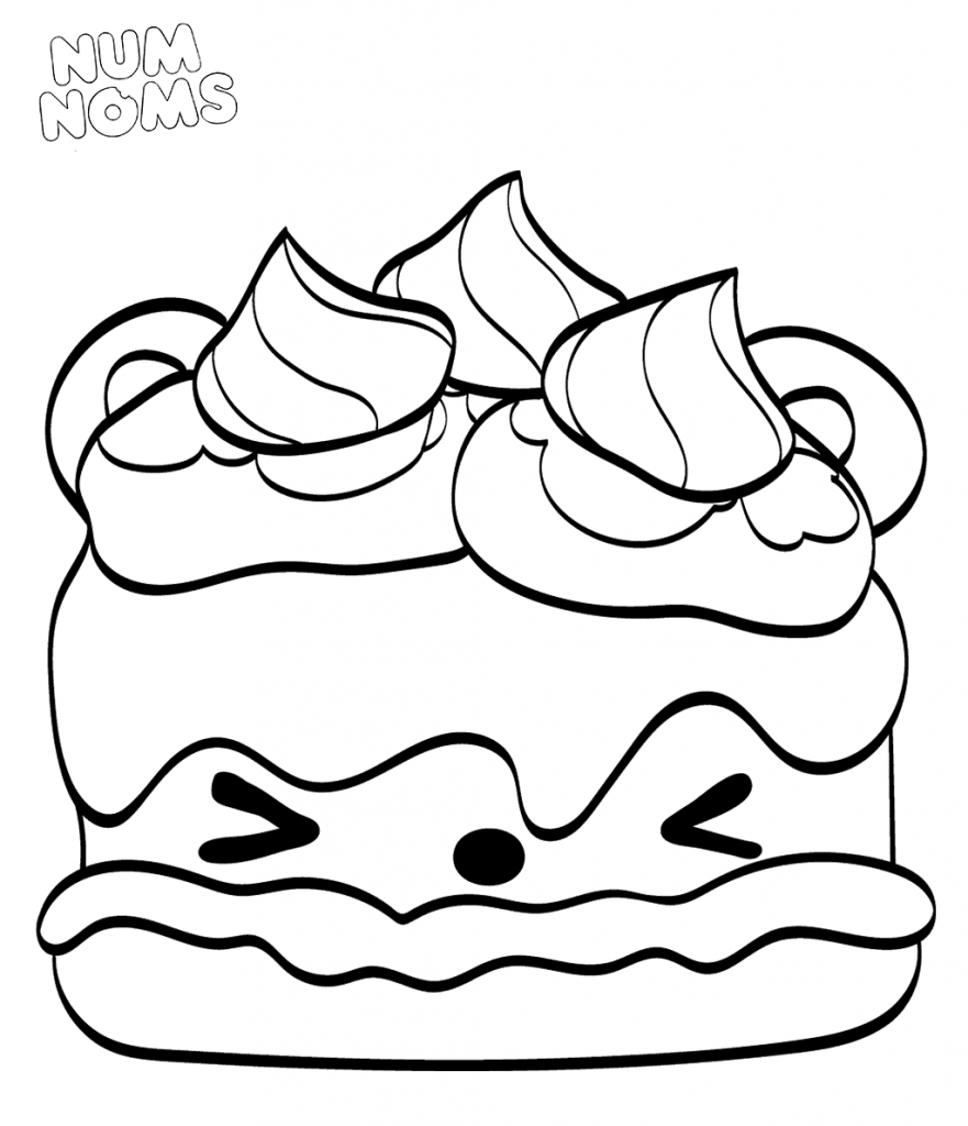 Num Noms Coloring Pages Sammy Smores