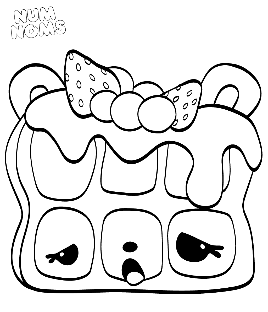 Num Noms Coloring Pages Willy Waffles
