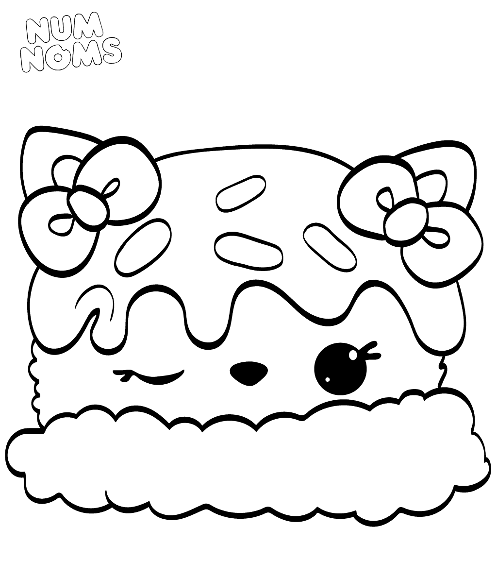 Num Noms Colouring Pages Sara Strawberry