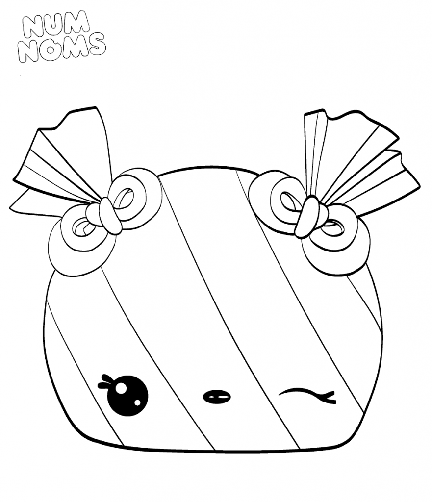 Num Noms Season 3 Coloring Pages Peyton Peppermint