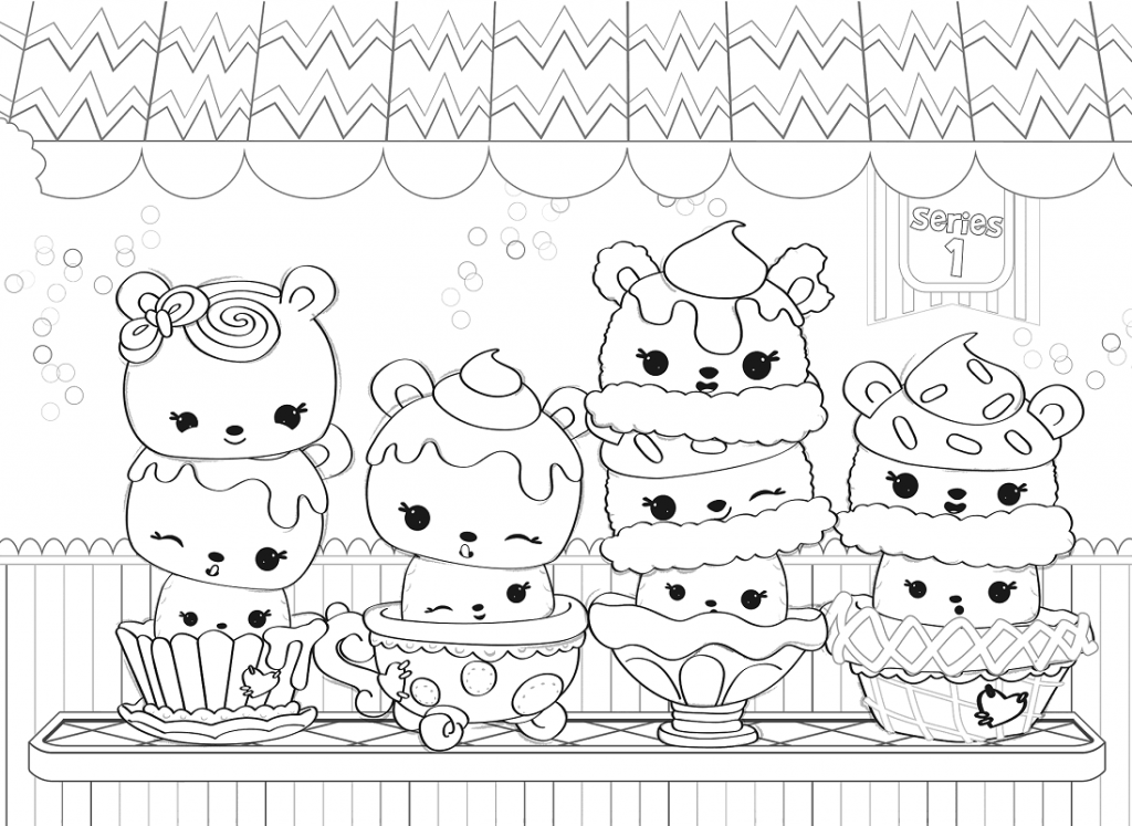 Num Noms Series 1 Coloring Pages
