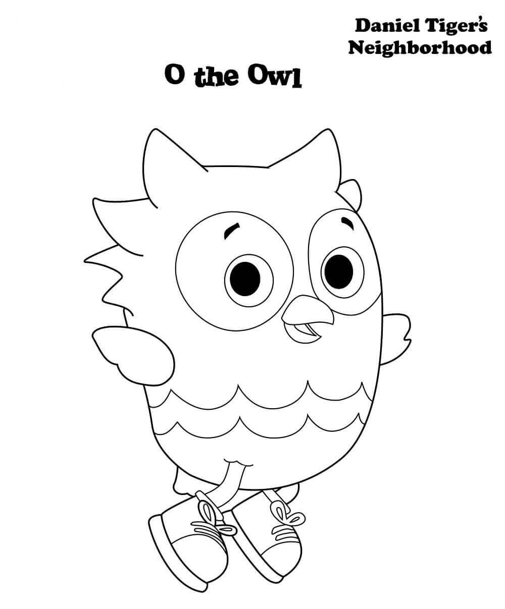 O The Owl From Daniel Tiger Coloring Page