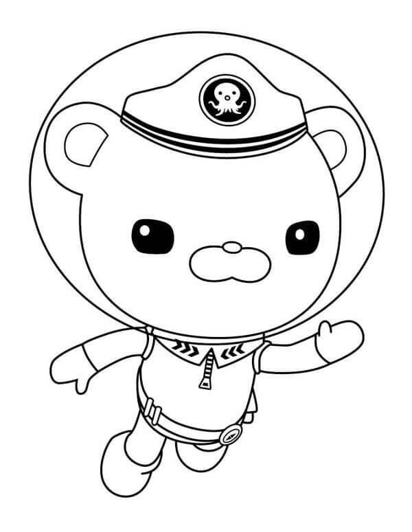 Octonauts Captain Barnacles Coloring Pages