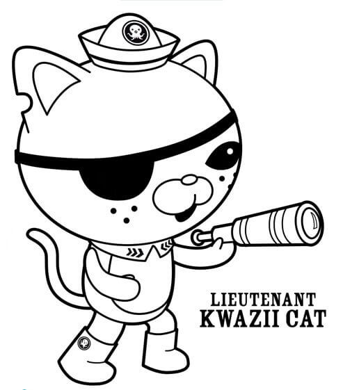 Octonauts Coloring Pages Kwazii Cat