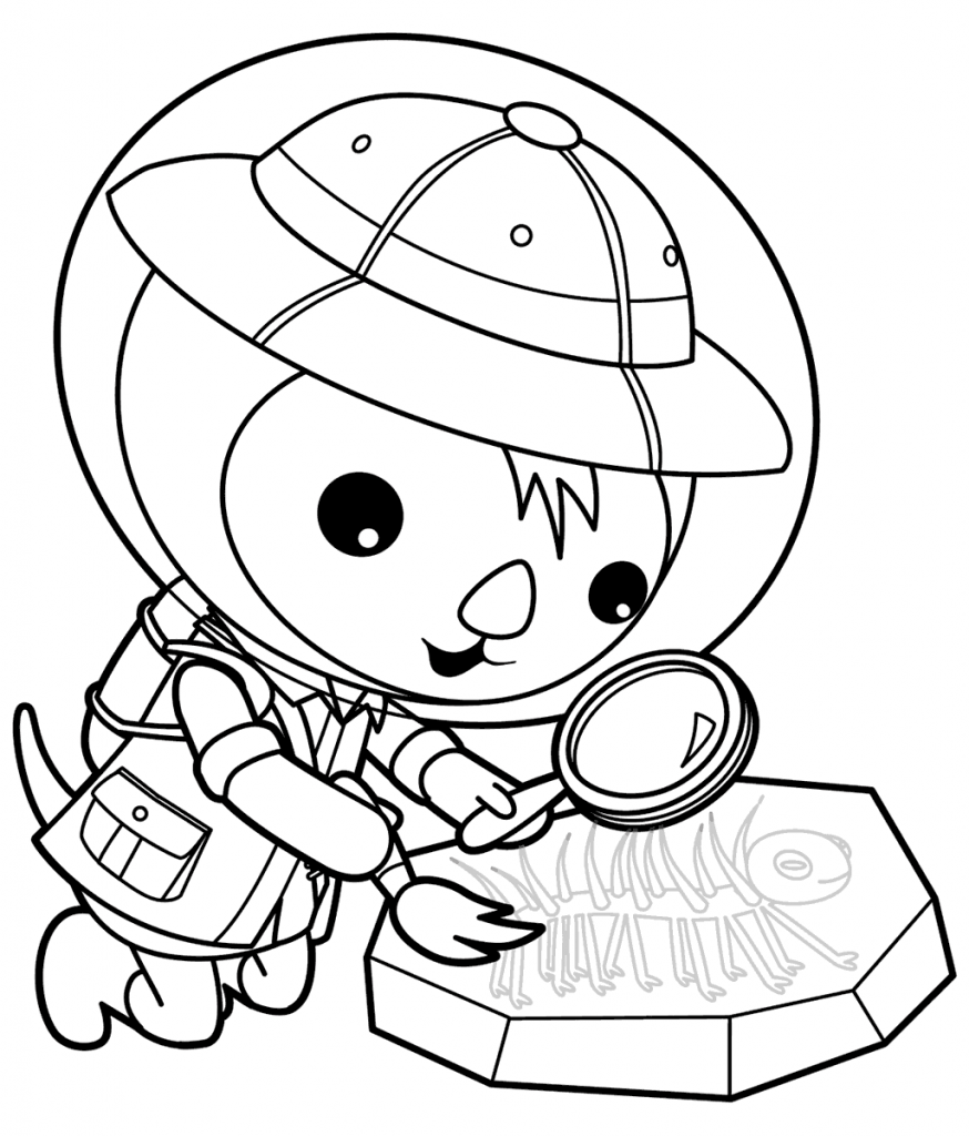 Octonauts Coloring Pages Shellington