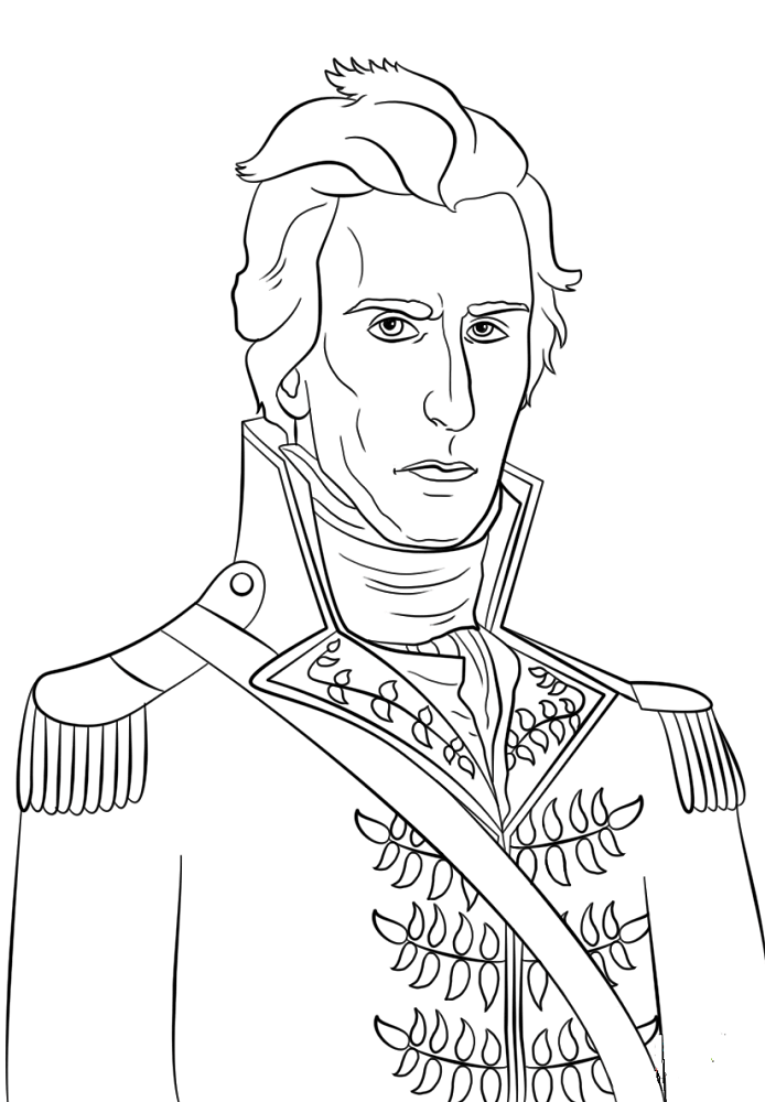 Presidents Day Coloring Pages Andrew Jackson
