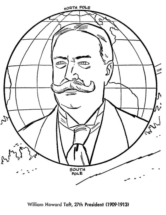 Presidents Day Coloring Pages William Howard Taft
