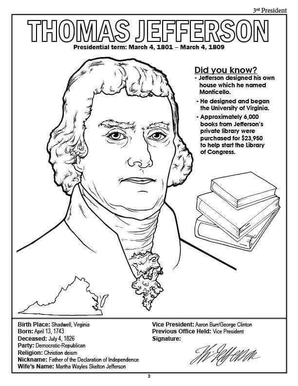 Presidents Day Coloring Pages With Facts