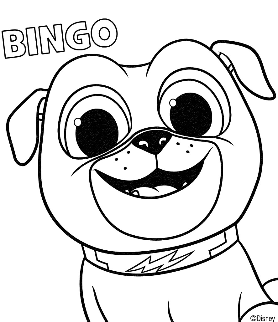 Puppy Dog Pals Coloring Page Bingo
