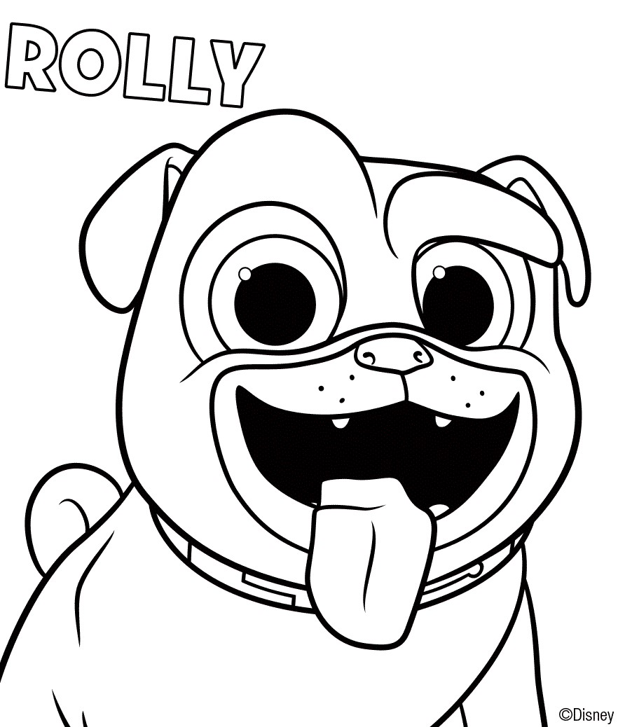 Puppy Dog Pals Coloring Sheets Rolly