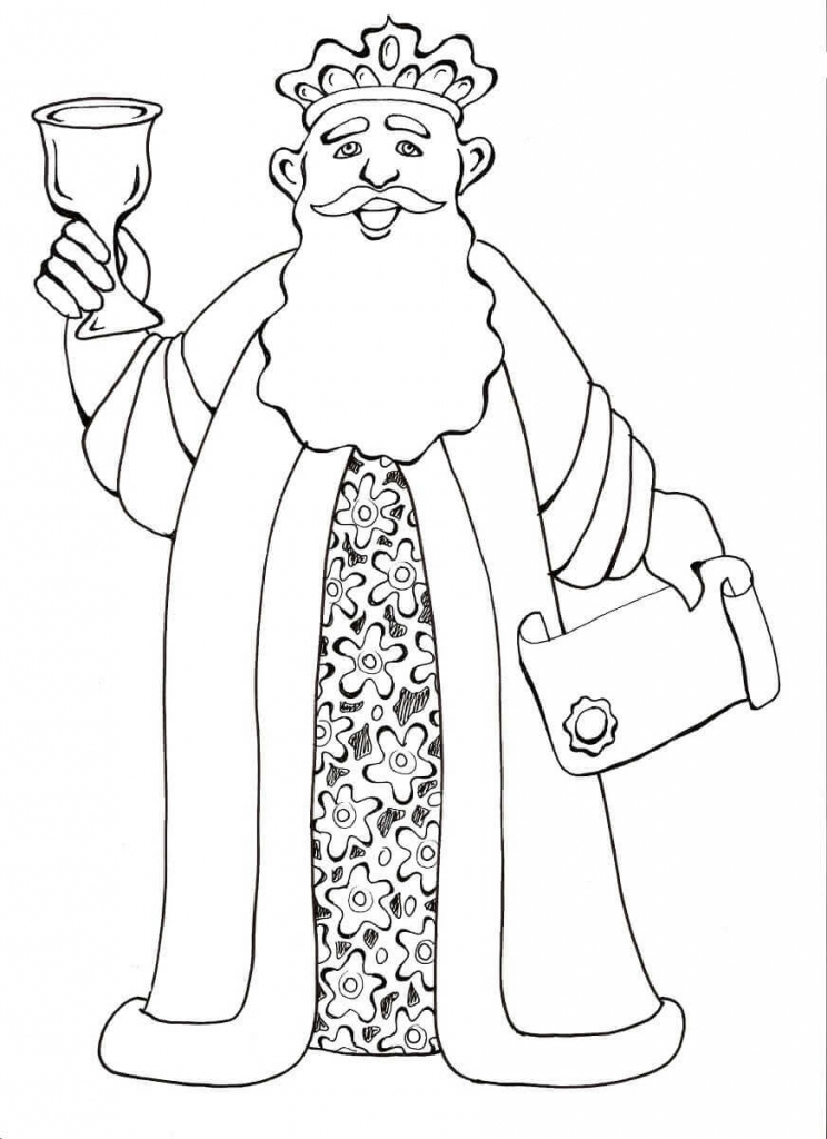 Purim Characters Coloring Pages Achashverosh