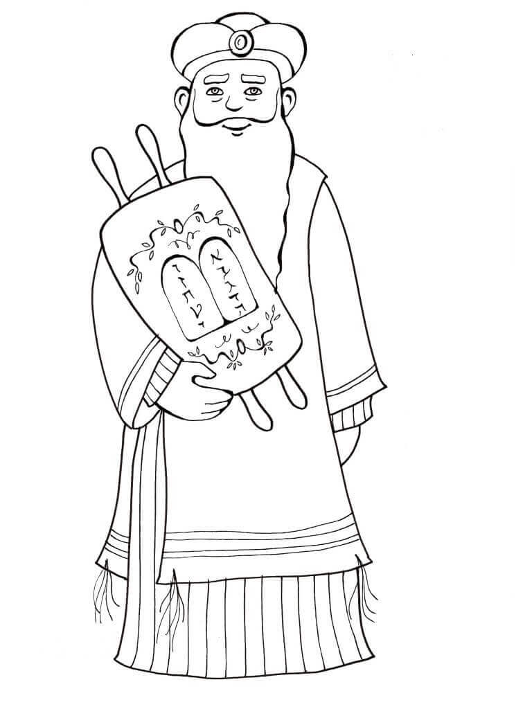 Purim Characters Coloring Pages Mordechai