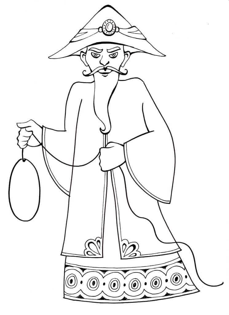 Purim Characters Coloring Sheets Haman