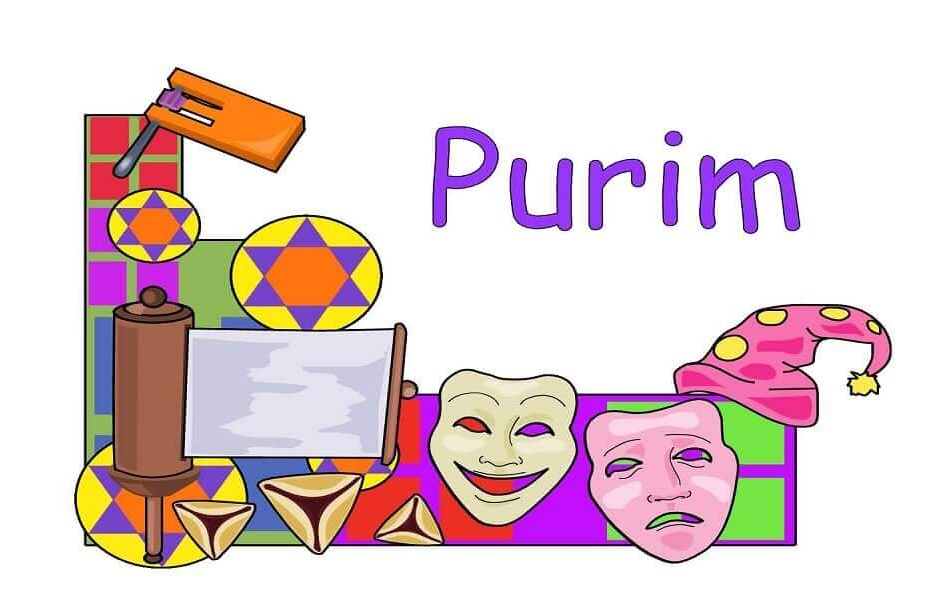 Purim Coloring Images