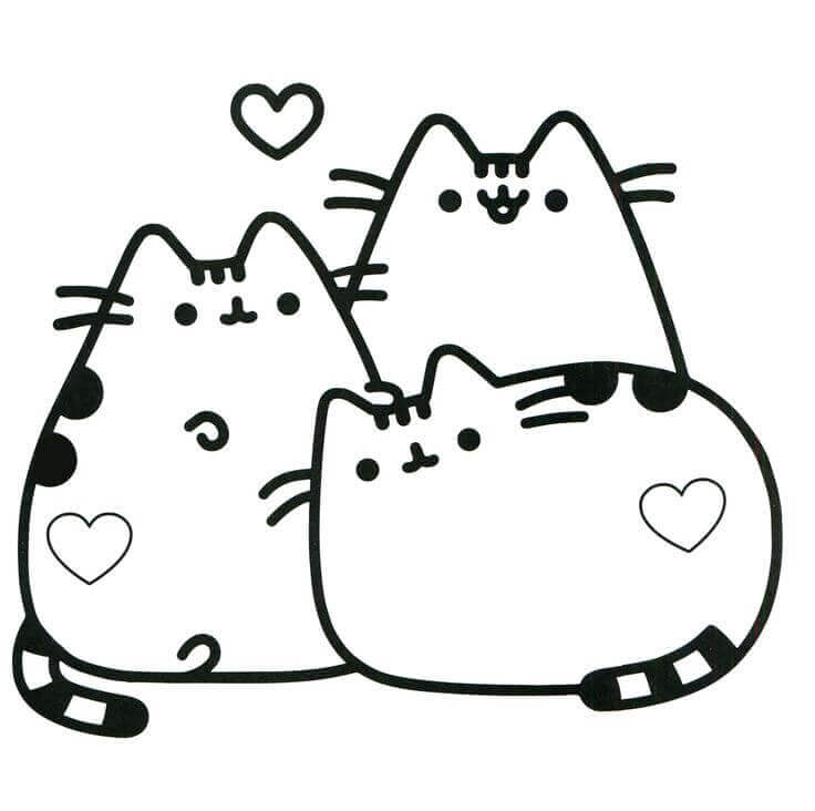 Pusheen Coloring Sheets
