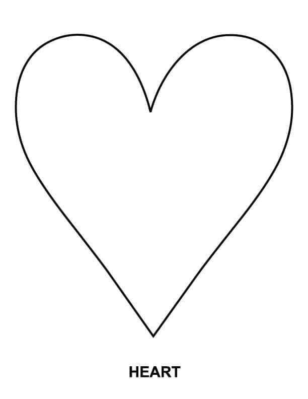 Simple Heart Shape Coloring Pages