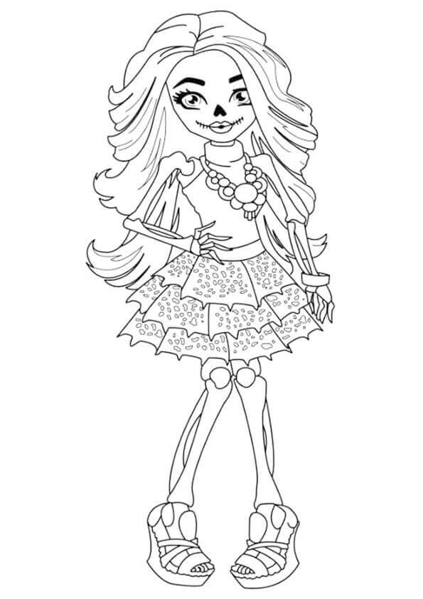 Skelita Calaveras Monster High Coloring Pages Printable