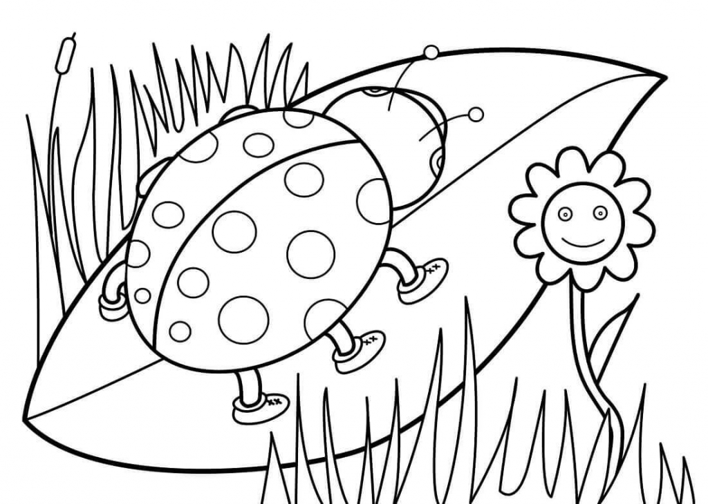 Spring Coloring Pages To Print