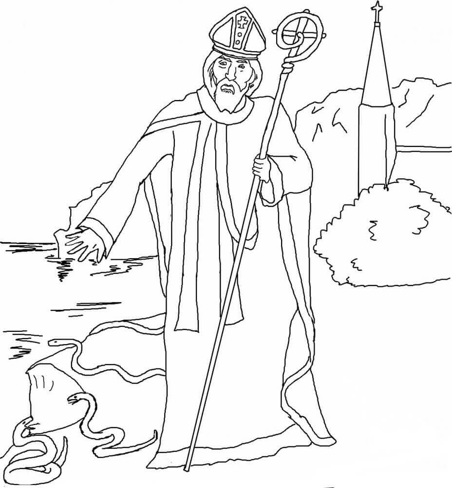 St Patrick Coloring Pages Free Printable