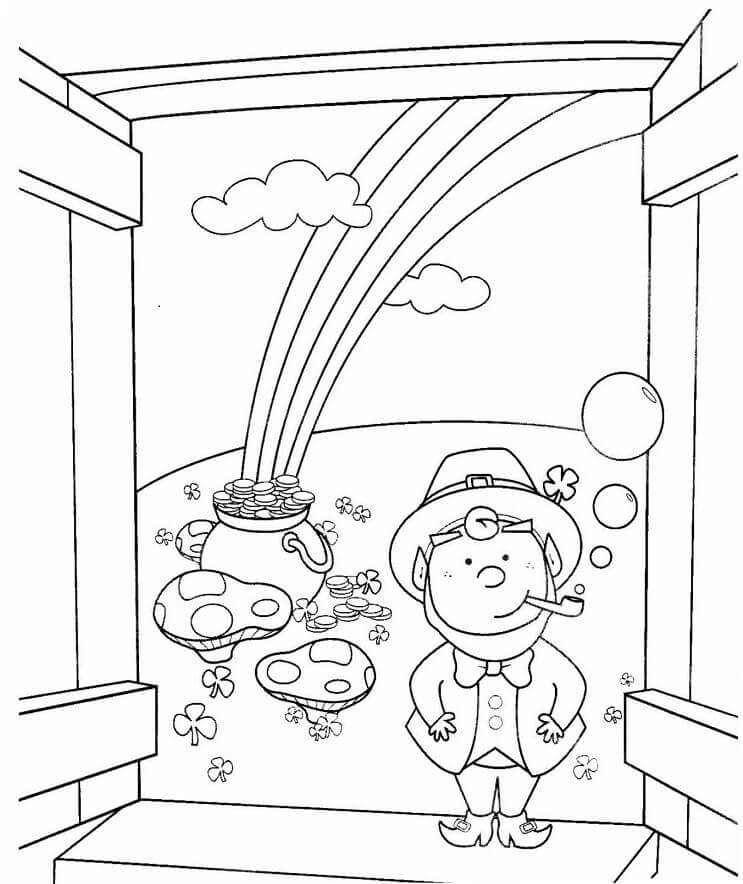 St Patricks Day Coloring Pictures Leprechaun Coloring Pages For Free Coloring Pages Of Leprechaun