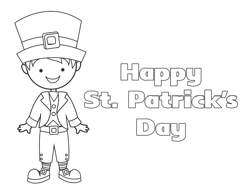 St Patricks Day Coloring Sheet Free St Patricks Day Coloring Pages For Preschoolers St Patricks Day Coloring Sheets For Free Leprechaun Coloring Pages