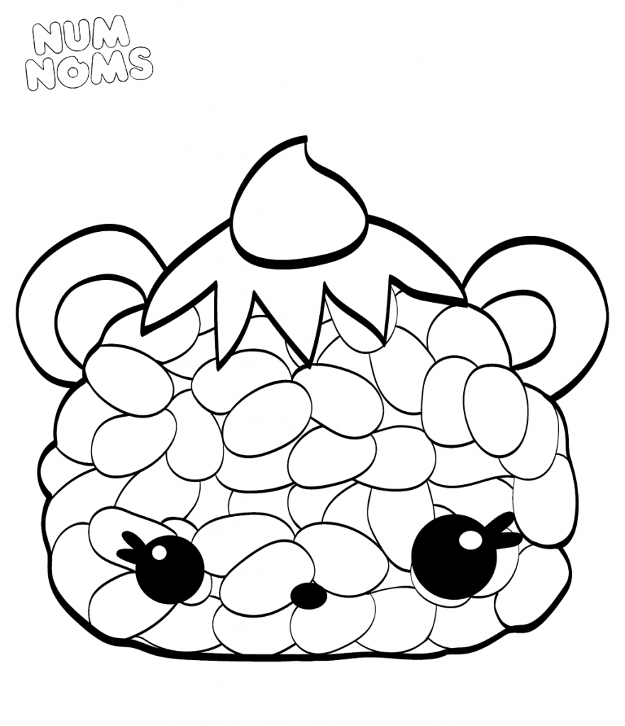 Sushi Oni Giri NumNoms Coloring Pages
