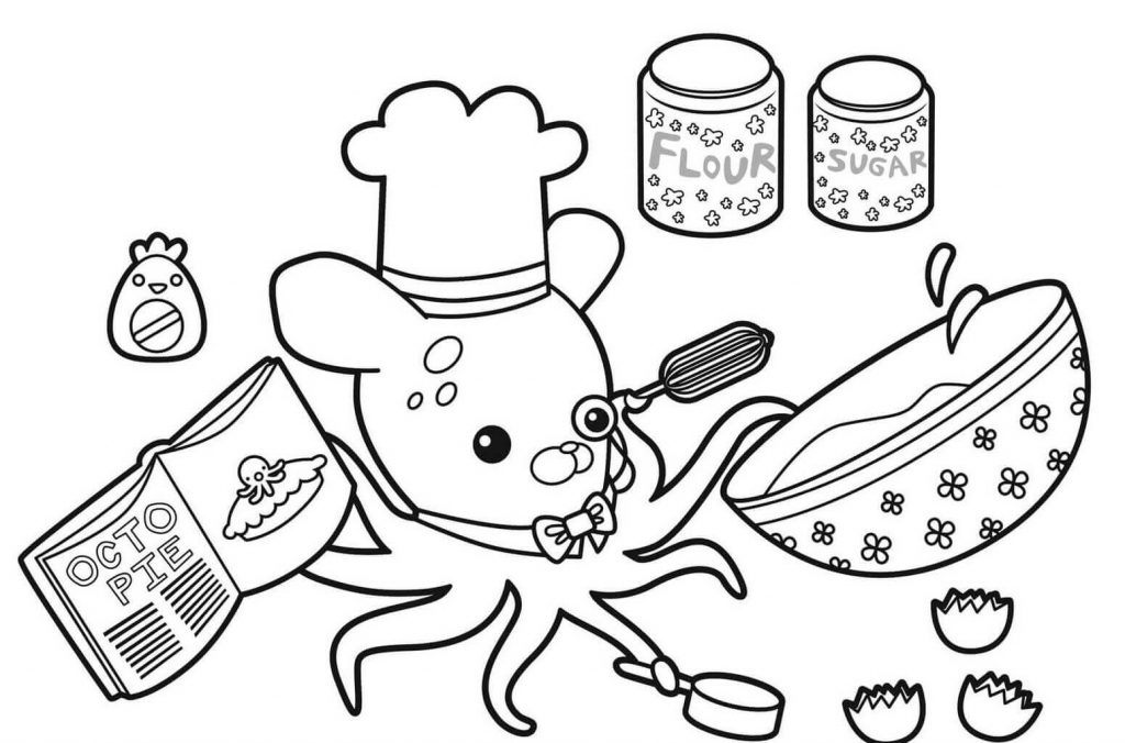 The Octonauts Printable Coloring Pages Professor Inkling