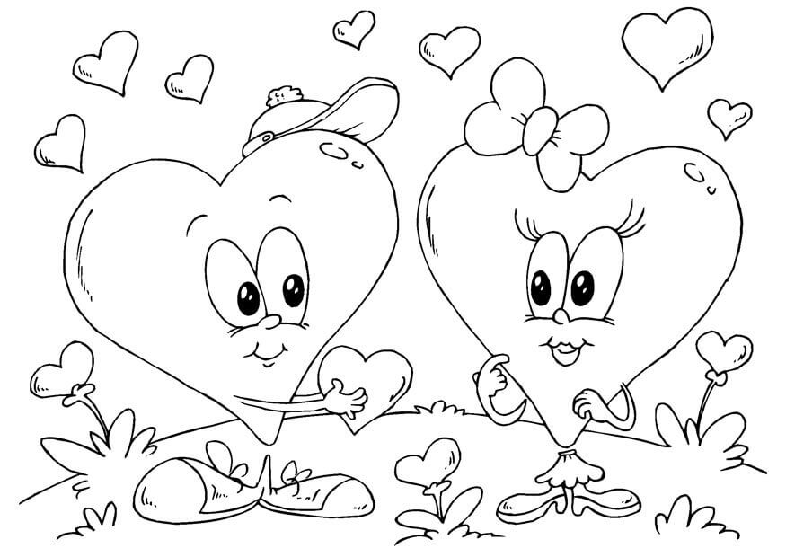 Valentines Heart Coloring Pages, happy valentines day coloring pages